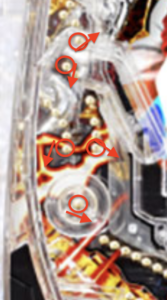 パチンコ鉄拳極の釘に関する参考画像