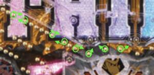 パチンコルパン三世神々への予告状の釘に関する参考画像